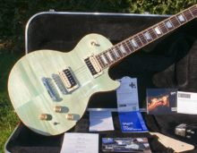 Mint Condition 2015 Gibson Les Paul Classic in Seafoam Green & OHC
