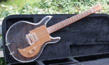 Lovely Rare 1973 Univox Lucite (Ampeg Dan Armstrong Styled) Plexiglass Guitar & Case