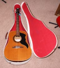 Pristine Condition c1966 Eko G-54 Acoustic Guitar & Original Case