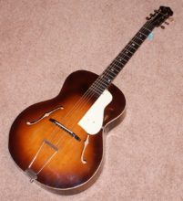 C. early 1950s Boosey & Hawkes London Deansbrook Archtop Acoustic Guitar & Original Hard Case