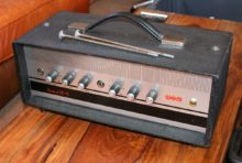 1960s All Original Wem Control ER15 15w (Pick-a-Back) Hand-Wired Valve Guitar Amplifier Head In Perfect Condition