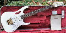 Totally Mint 2006 Ibanez Jem7V-WH Steve Vai Signature Prestige Guitar, with Original Case, Tools & Candy