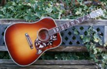 Mint Condition 2015 Gibson Limited Edition Hummingbird Custom Quilt Acoustic Guitar, Vintage Sunburst & OHC