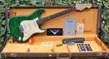 Gorgeous & Very Rare 2003 JC006 John Cruz Custom Shop Special Build, Green Zebra Fender Stratocaster & OHC