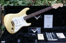 2014 Jeff Beck styled NOS Fender Custom Shop Gold Leaf, Namm Show, Strat Pro, Master built by Dennis Galuszca, with OHC/Candy