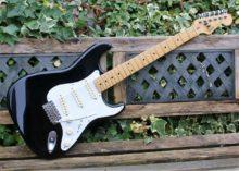 Super Condition 1986 Fender Strastocaster Black/Maple MIJ