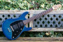 Pristine 2014 Ltd Ed Music Man Steve Morse Signature Series, Blue Burst, Roasted Maple Neck, Inc OHC