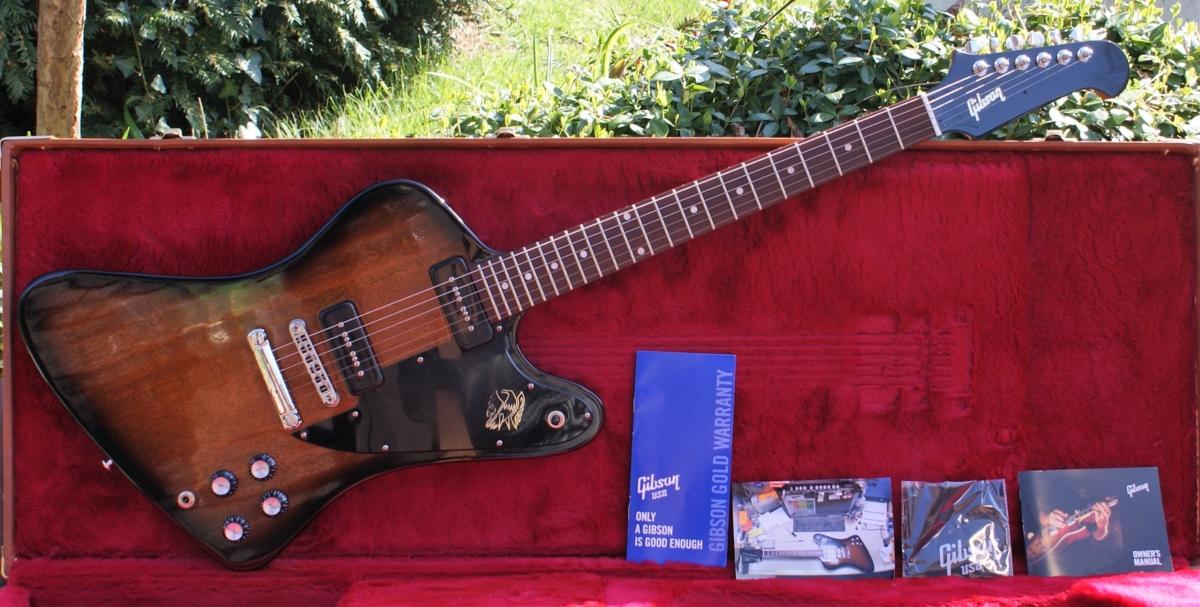Pristine 2018 Gibson Firebird Studio, Vintage Sunburst, P90's & OHC