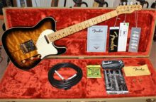 Stunning 2007 Fender Custom Shop Artist Series Merle Haggard Signature Tuff Dog Telecaster Quilted 2-Color Sunburst