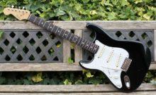 1989 Left Handed Fender Stratocaster Made In Japan, Black & Padded Gig Bag