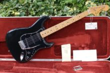 All Original 1979 American Black Fender Stratocaster with Original Hardshell Case and Candy
