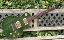 Superb & Pristine, Paul Hancox Custom Build 'Ethos' Green Goddess LP Style Guitar