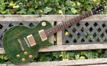 Superb & Pristine, Paul Hancox Custom Build 'Ethos' Green Goddess LP Style Guitar