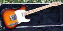 1992 All Original American Fender Standard Telecaster, 3 Tone Sunburst & Original Case