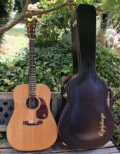 Gorgeous True Vintage 1972 Blue Label Epiphone FR25 Dreadnought Acoustic Guitar MIJ & Epiphone Hard Shell Case