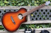 Excellent 2005 Line 6 Variax 700 Acoustic Dark Burst with all Accessories & Original Gig Bag