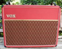 Beautiful Condition Limited Edition 1995/6 VOX AC30/6 TBXR With Alnico Blue speakers, Red Tolex & RoqSolid Cover
