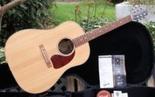 Mint Condition 2016 Gibson J-15 Antique Natural & Walnut Acoustic Dreadnought Guitar & OHC