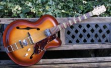 Beautiful & Rare 1958 Roger Junior Archtop Guitar With Original Case