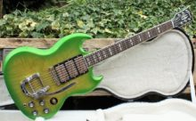 Gorgeous & Pristine Limited Run 2013 Gibson SG Deluxe, Rare Lime Burst Inc OHC