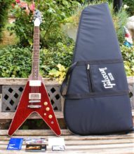 Pristine Gibson 2016 Flying V Pro T in Wine Red Complete with Gibson Gig Bag & All Tags