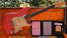 As New 2019 Fender Custom Shop '61 Ltd Reissue Stratocaster Journeyman Closet Classic, Faded Fiesta