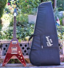 Beautiful Gibson 2016 Flying V Pro T in Wine Red Complete with Gibson Gig Bag & Strap