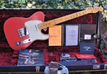 Gorgeous Fender Custom Shop 2019 LTD Postmodern Telecaster Journeyman Relic, Aged Fiesta Red, With OHC & All Extras