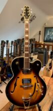 Lovely Peavey Rockingham Semi-Acoustic Guitar In Sunburst & Gig Bag