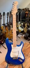 Mint 2011 Fender Stratocaster Custom Deluxe Candy Blue, Cream Case & COA