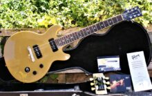 Excellent condition 2015 Gibson Les Paul Special Double Cut In Trans Yellow, with Shaped Gibson Case & Extras.