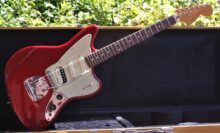 Beautiful 2012 Fender Pawn shop Jaguarillo In Candy Apple Red w/Tweed Case